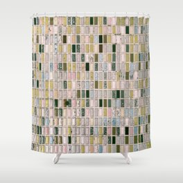 Vintage wall#retro#film#effect Shower Curtain