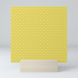 Small scallops in buttercup yellow Mini Art Print