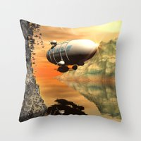 led zeppelin Throw Pillows featuring Zeppelin by nicky2342