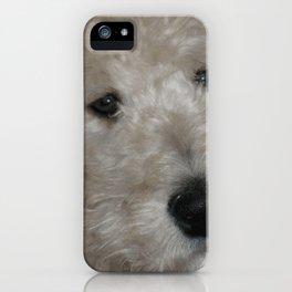 Cute Goldendoodle Puppy Dog Portrait iPhone Case