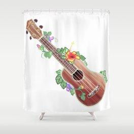 Ukulele - Koa Bella Shower Curtain