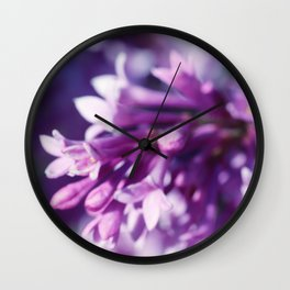 Lilacs close up Wall Clock