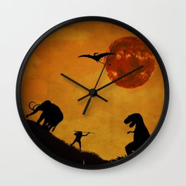 Revive the Jurassic  Wall Clock
