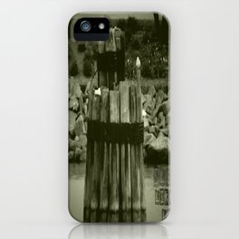 Sleep like a log iPhone Case