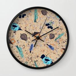 Collage birds Wall Clock