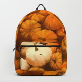Pumpkins Tiny Gourds Pile Backpack