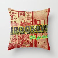 brooklyn Throw Pillows featuring Brooklyn by nicole martinez