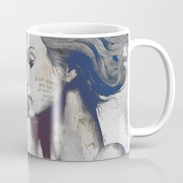 Monument: Red & Blue (sleeping beauty, woman with skyline tattoo and bird) Coffee Mug