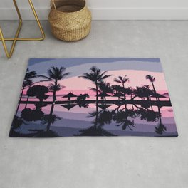 Tropical Summer Silhouette Rug