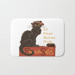 Le Chat  Burns Nuit With Haggis and Dram Bath Mat