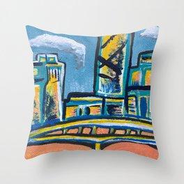 Brisbane City Painting Throw Pillow