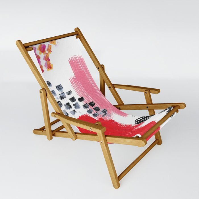 Abstract Warmth Sling Chair