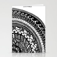 zentangle Stationery Cards featuring Zentangle. by Sophie H.