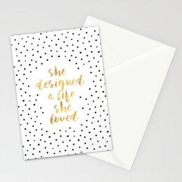 She Designed a Life She Loved Stationery Cards