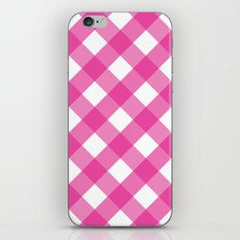 Pink & White Checkered Pattern-Mix and Match with Simplicity of Life iPhone Skin
