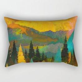 Mysterious Mountain Realms Rectangular Pillow