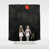 twins Shower Curtains featuring Twins by JuniperFawkes