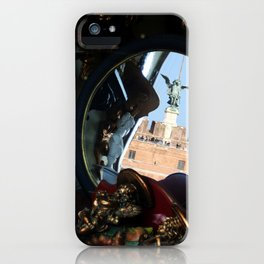 Mirrored St Angel Castle Rome iPhone Case
