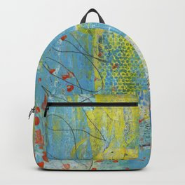 abstract 1 orange rising Backpack