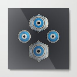 Metallic Guardian Eyes #2 Metal Print