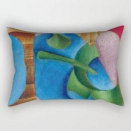 """Juan Gris """"Verre, Tasse, Et Journal (Glass, Cup, And Journal)"""" Rectangular Pillow"""
