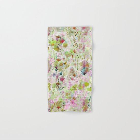 des fleurs et des mots Hand & Bath Towel