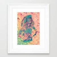 geode Framed Art Prints featuring geode by flower
