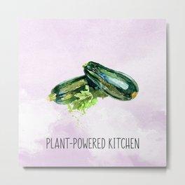 Plant-Powered Kitchen Zucchini Metal Print