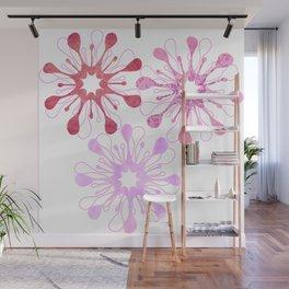 Flora Dora Pink Wall Mural