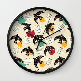 Mexican birds Wall Clock