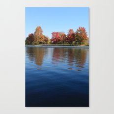 Autumn Reflections in the Rideau Canal Canvas Print