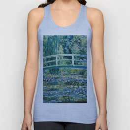 Claude Monet - Water Lilies And Japanese Bridge Unisex Tanktop