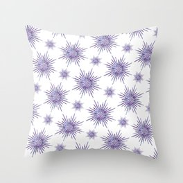 Symmetrical Shapes - Purple Burst Throw Pillow