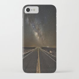 Go Beyond - Road Leads Into Milky Way Galaxy iPhone Case