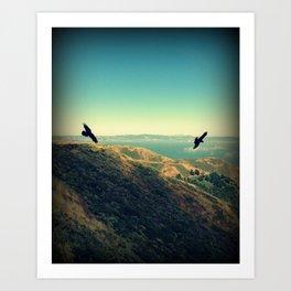 Flying Over Marin Headlands Art Print