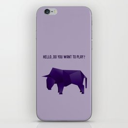 Do You Want to Play? - Origami Purple Bull iPhone Skin