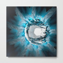 Ice ball abstract Metal Print