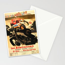 Nurburgring Race, vintage poster Stationery Cards
