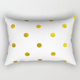 Faux gold foil polka dots Rectangular Pillow