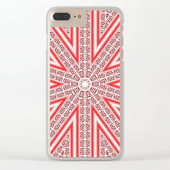 Kaleidoscope Heart Pattern Clear iPhone Case