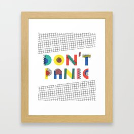 Don't Panic, it's Retro Framed Art Print