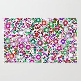 Vivid floral pattern 4181A Rug