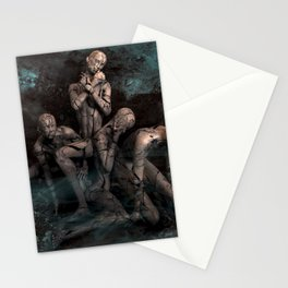 Abtract Dark Emotion Of Human Stationery Cards