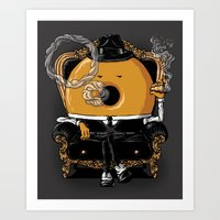 gangster Art Prints featuring Gangster Donut by Javier Ramos