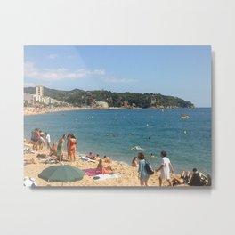 Lloret de Mar beach - Catalunya - Spain Metal Print