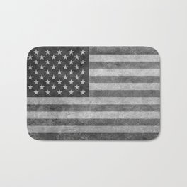 US flag - retro style in grayscale Bath Mat