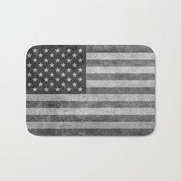 US flag - retro style in grayscale Bath Mat