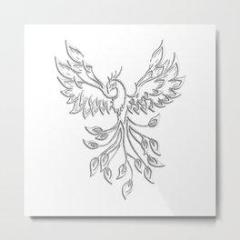 White Phoenix Metal Print
