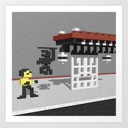 BruceLee Commodore 64 game tribute Art Print
