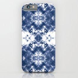 Shibori Tie Dye Indigo Blue iPhone Case
